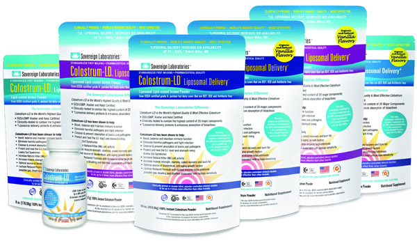 Sovereign Laboratories Colostrum LD products.